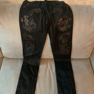 Just Cavalli Jeans size 26 with leather